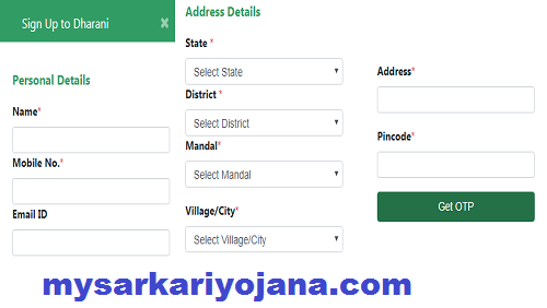 Dharani Website Registration Process