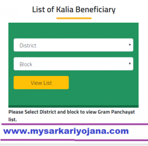 Kalia Scheme Application Status and list