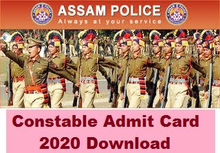 Assam Police Constable Admit Card 2020 Download