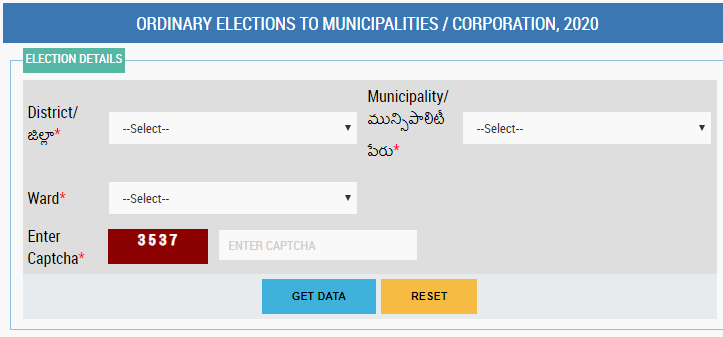 Municipality Ward List Voter List Download